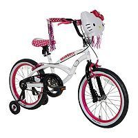 Girls Hello Kitty 18-Inch Wheel Light-Up Bike with Training Wheels