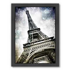 Americanflat Modern Art Paris Eiffel Tower Splashes Framed Wall Art