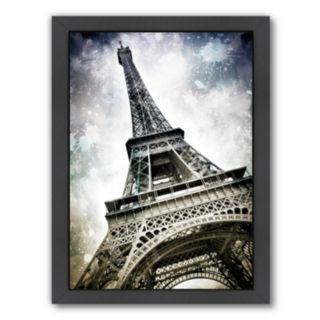 Americanflat Modern Art Paris Eiffel Tower Splashes Framed Wall Art