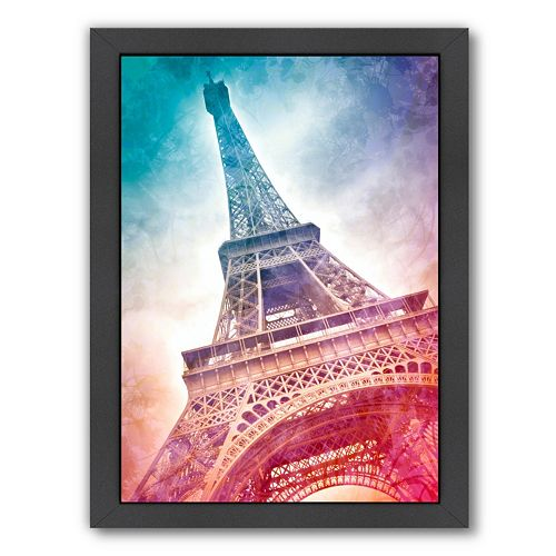 Americanflat Modern Art Paris Eiffel Tower Framed Wall Art