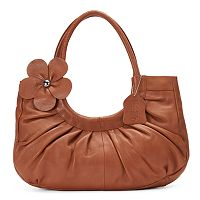Donna Bella Mabel Floral Leather Shoulder Bag
