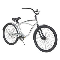 Men's Dynacraft 26-Inch Wheel Silver Sandman Cruiser Bike