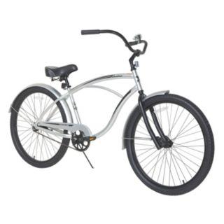 Men's Dynacraft 26-Inch Wheel Silver Sandman Cruiser Bike