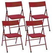 Cosco 4 pkPinch-Free Folding Chair