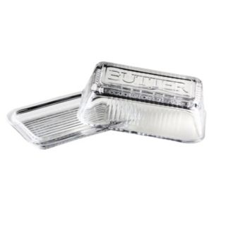Global Amici Classic Covered Glass Butter Dish