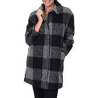 Women's Fleet Street Cocoon Plaid Wool-Blend Coat