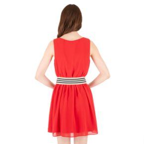 Juniors' IZ Byer Belted Pintuck Dress