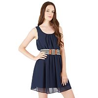 Juniors' IZ Byer California Belted Pintuck Dress