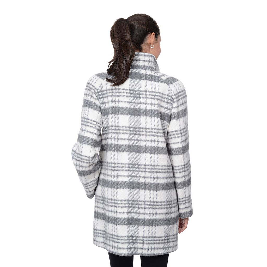 Women's Fleet Street Plaid Cocoon Wool-Blend Coat