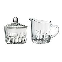 Global Amici Bordeaux Glass Sugar Bowl & Creamer Set