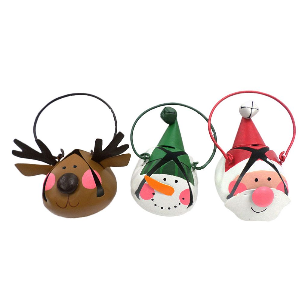 St. Nicholas Square® Character Bell Christmas Ornament 3-piece Set