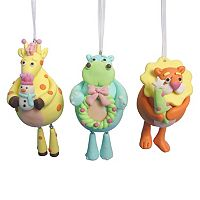 St. Nicholas Square® Baby Animal Christmas Ornament 3-piece Set