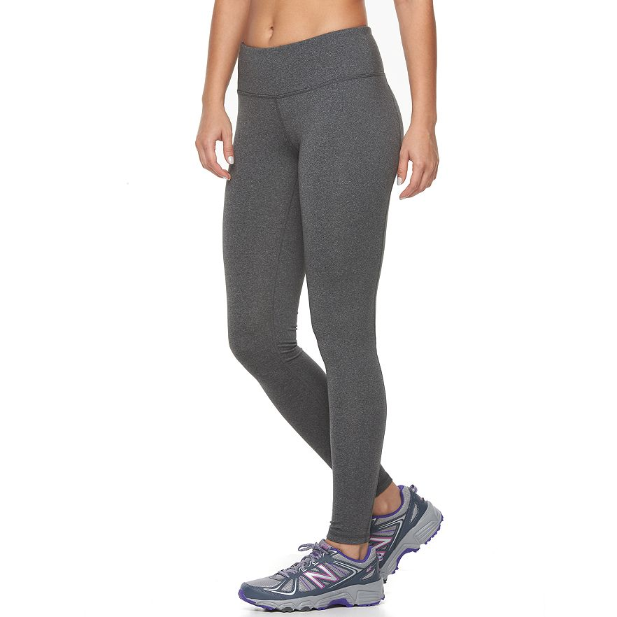 b7306b32ca8 Women s Tek Gear® Shapewear Workout Leggings. Black Capital Gray Melange