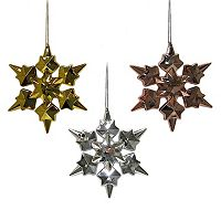 St. Nicholas Square® Electro Snowflake Christmas Ornament 3-piece Set