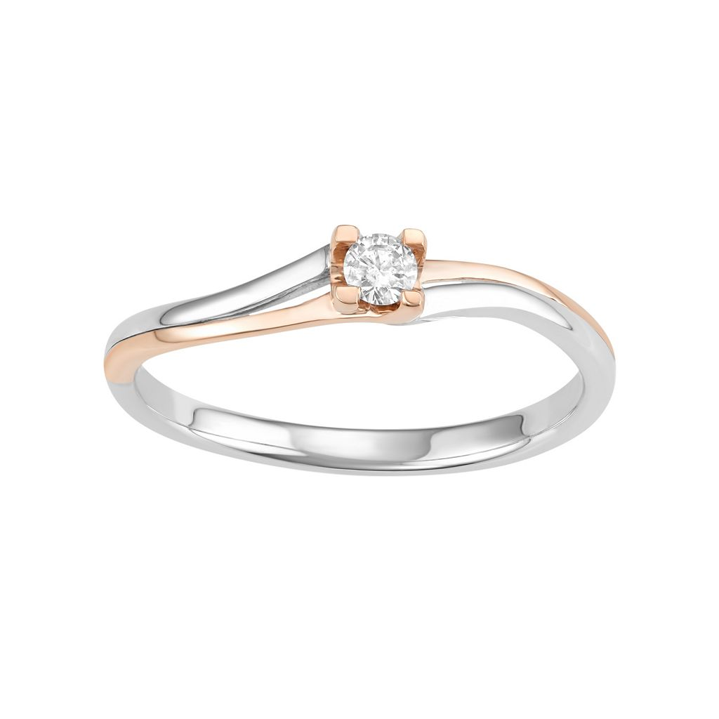 10k White Gold 1/10 Carat T.W. Diamond Promise Ring