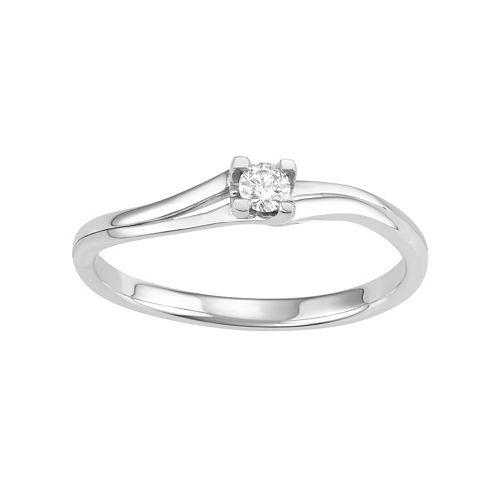 10k White Gold 1/10 Carat T.W. Diamond Promise Ring