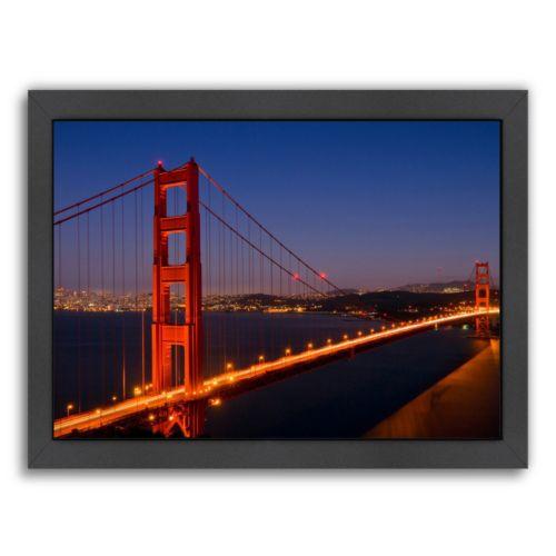 Americanflat Golden Gate Bridge In The Evening Framed Wall Art