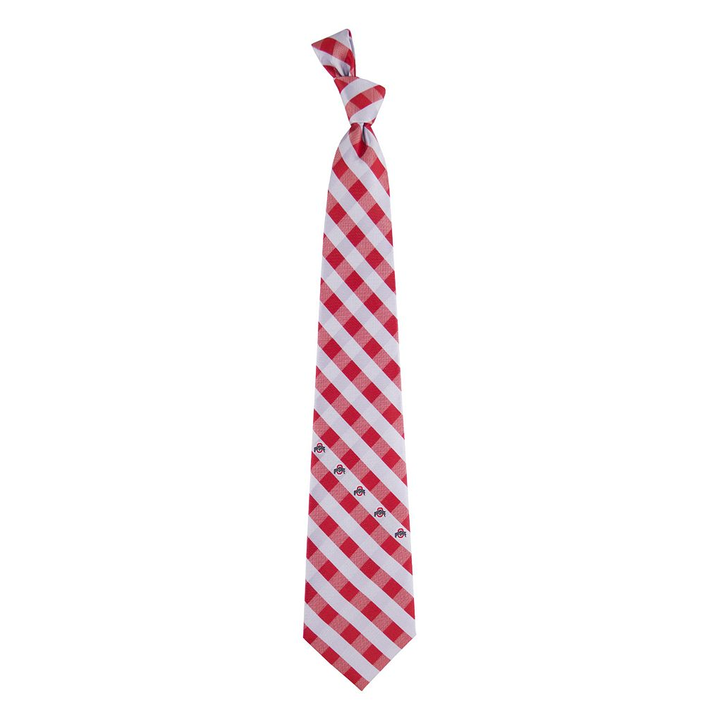 Adult NCAA Check Woven Tie