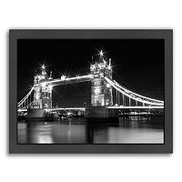 Americanflat Monochrome London Tower Bridge Framed Wall Art