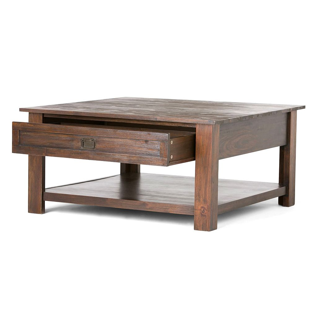 Simpli Home Monroe Square Coffee Table