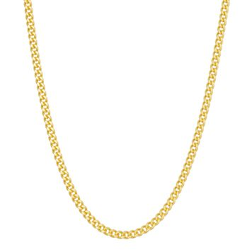 14k Gold Over Silver Curb Chain Necklace - 24 in.