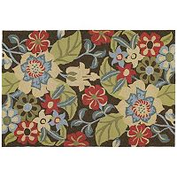Kaleen Habitat Salty Leaves Floral Indoor Outdoor Rug