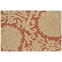 Kaleen Habitat Bahama Rose Floral Indoor Outdoor Rug