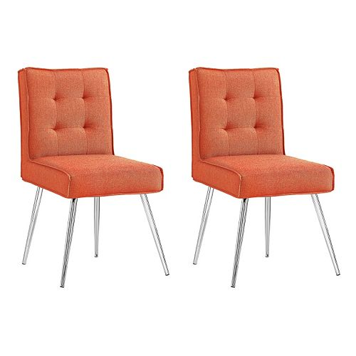 Linon Astra Accent Chair 2-piece Set