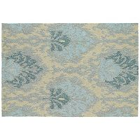 Kaleen Habitat Sea Spray Damask Indoor Outdoor Rug