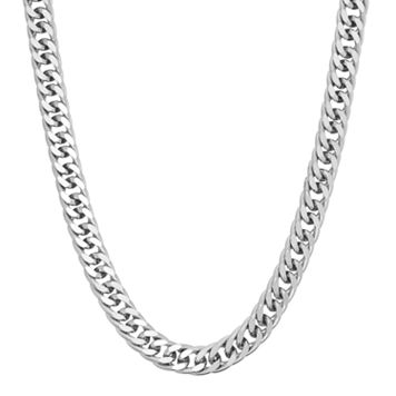 Men's Sterling Silver Curb Chain Necklace - 18 in.