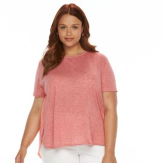 Plus Size Harve Benard Mixed-Media Tee