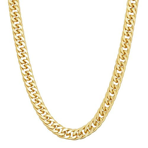 Men's 14k Gold Over Silver Curb Chain Necklace - 18 in.