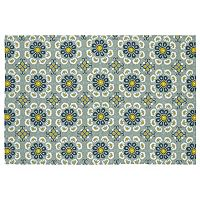 Kaleen Habitat Floral Tile Indoor Outdoor Rug