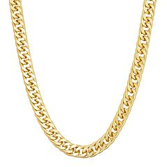 Men's 14k Gold Over Silver Curb Chain Necklace - 30 in