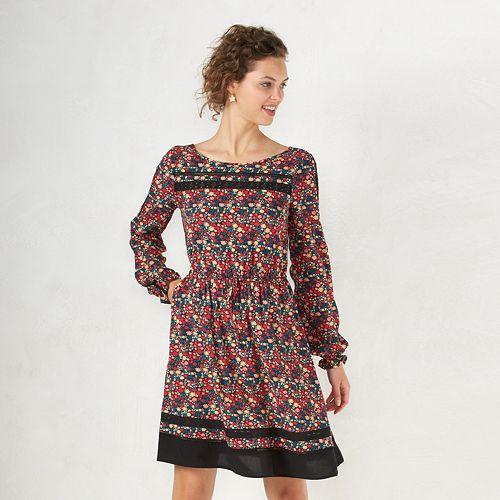 Womens Lc Lauren Conrad Floral Dress