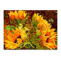 Trademark Fine Art Four Sunflowers Canvas Wall Art
