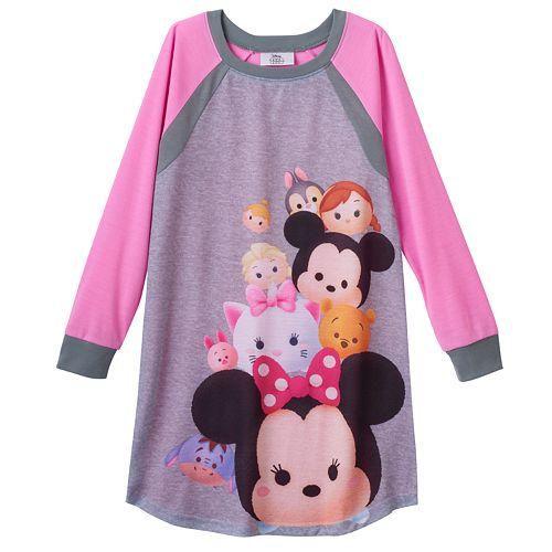Disney's Tsum Tsum Girls 4-12 Raglan Dorm Nightgown