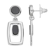 Nickel Free Open Rectangle Drop Earrings