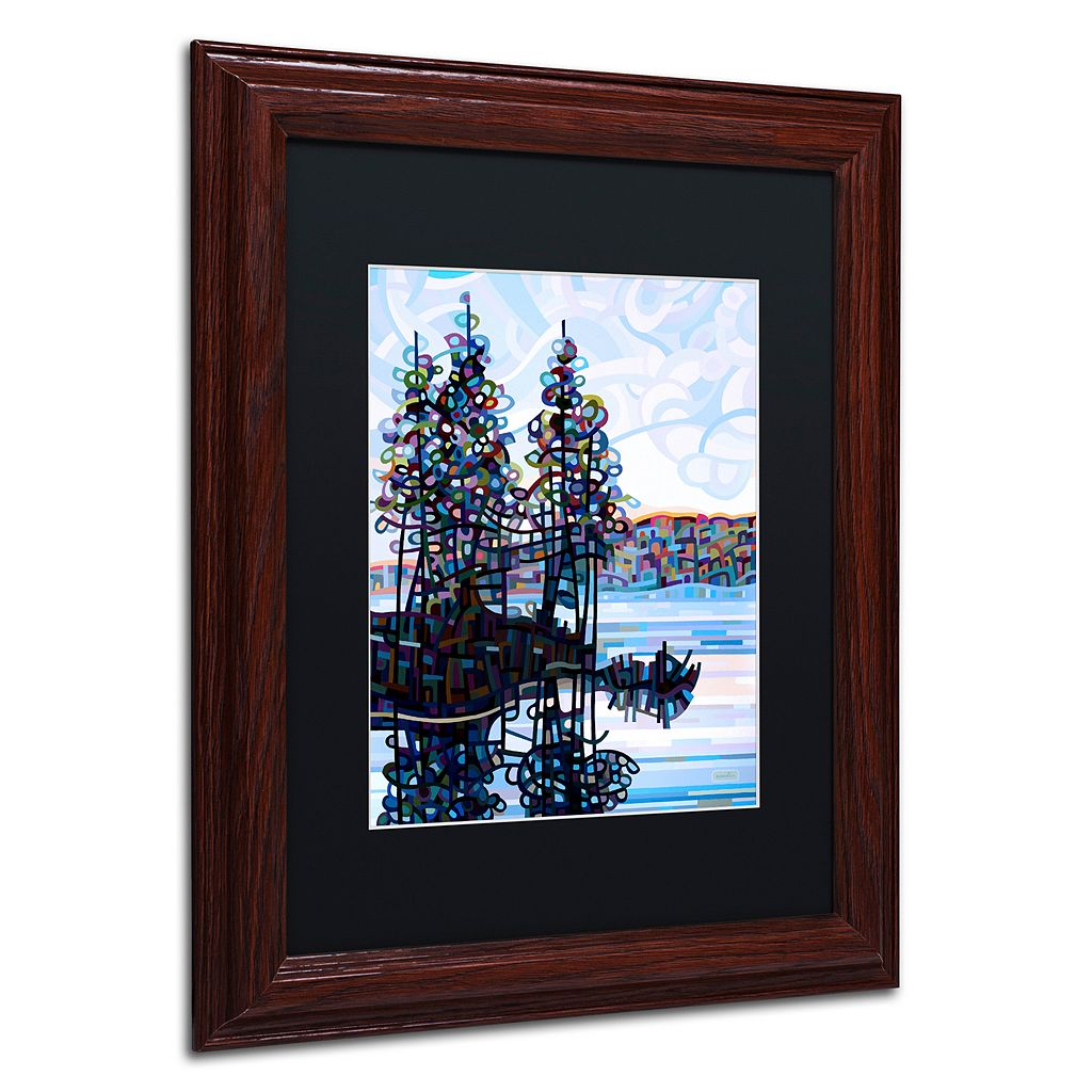 Trademark Fine Art Haliburton Morning Wood Finish Framed Wall Art