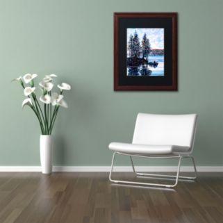 Trademark Fine Art Haliburton Morning Wood Finish Framed Wall Art
