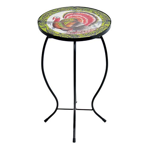 Exhart Turkey Glass Outdoor Bistro Table