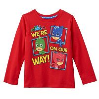Toddler PJ Masks Catboy, Gekko & Owlette Front & Back Graphic Tee