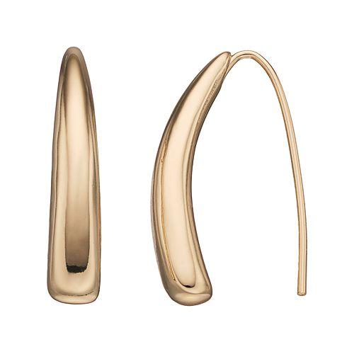 Dana Buchman Curved Bar Threader Earrings