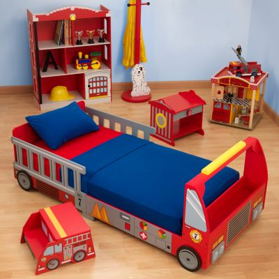 Fire Truck Bedroom on Kidkraft Fire Truck Toddler Bed