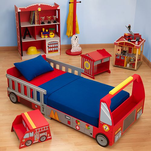 KidKraftR Fire Truck Toddler Bed