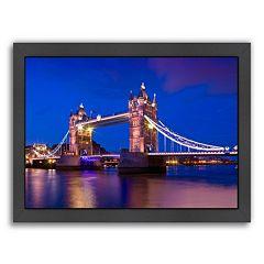 Americanflat London Tower Bridge At Blue Hour Framed Wall Art