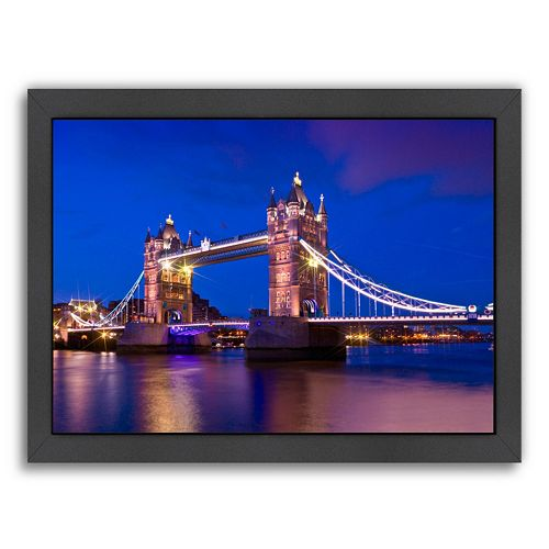 Americanflat London Tower Bridge At Blue Hour Framed Wall Art