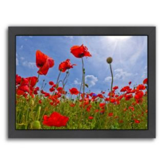 Americanflat Field Of Poppies Framed Wall Art