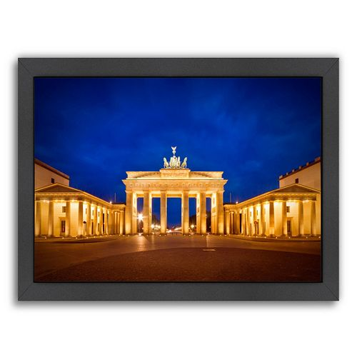 Americanflat Berlin Brandenburg Gate Before Sunrise Framed Wall Art