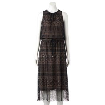 Women's Suite 7 Geometric Blouson Maxi Dress